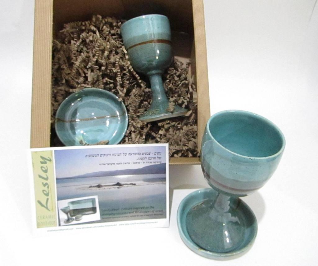 Ceramic Wine Goblets, Kiddish Cups