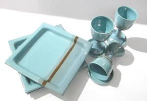 Matza Plate, Kiddish Cups, Wine Goblets