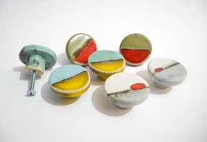 Decorative Knobs, Ceramic Knobs, Cabinet Knobs, Landscapes