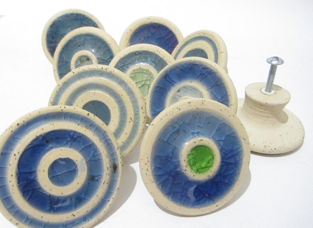 Glass Knobs Recycled Glass, Ceramic Knobs, Door Decor, Door Hardware