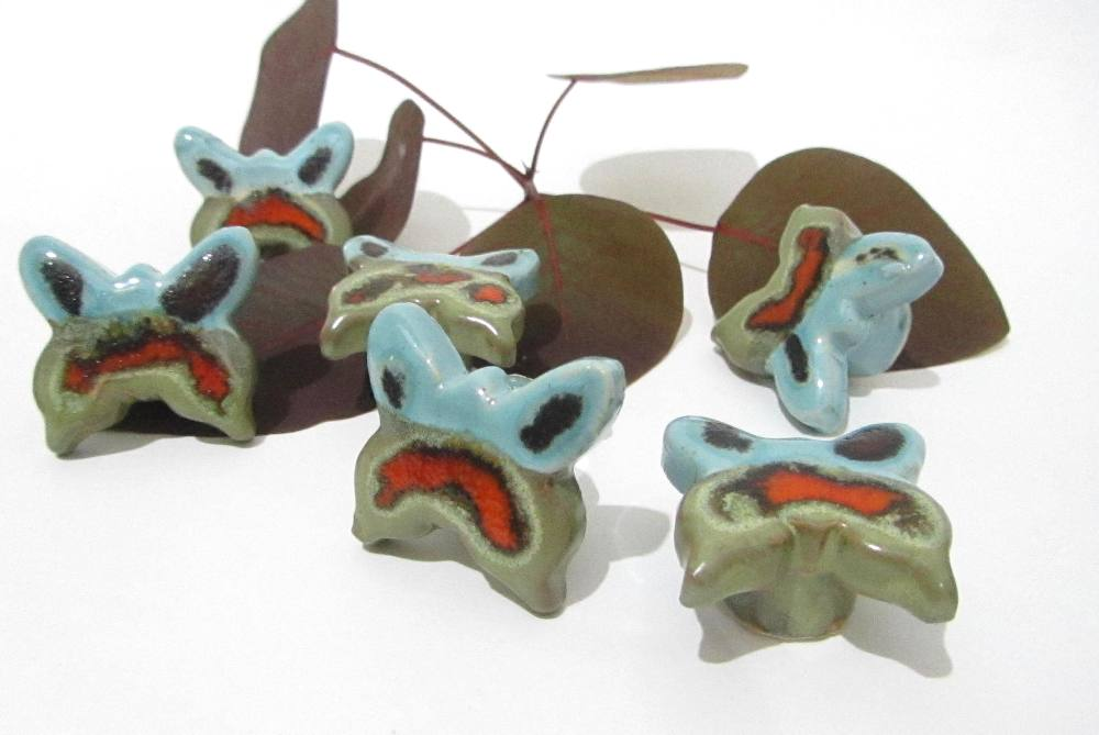 Butterfly knobs, ceramic knobs, drawer knobs