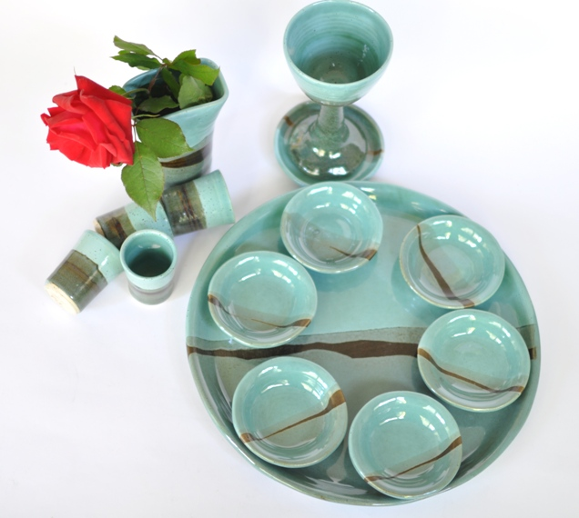 Passover Plate, Judaica Gift, Seder Plate