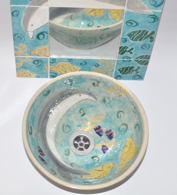 Custom Made Sink, Handmade Sink, Fish Design