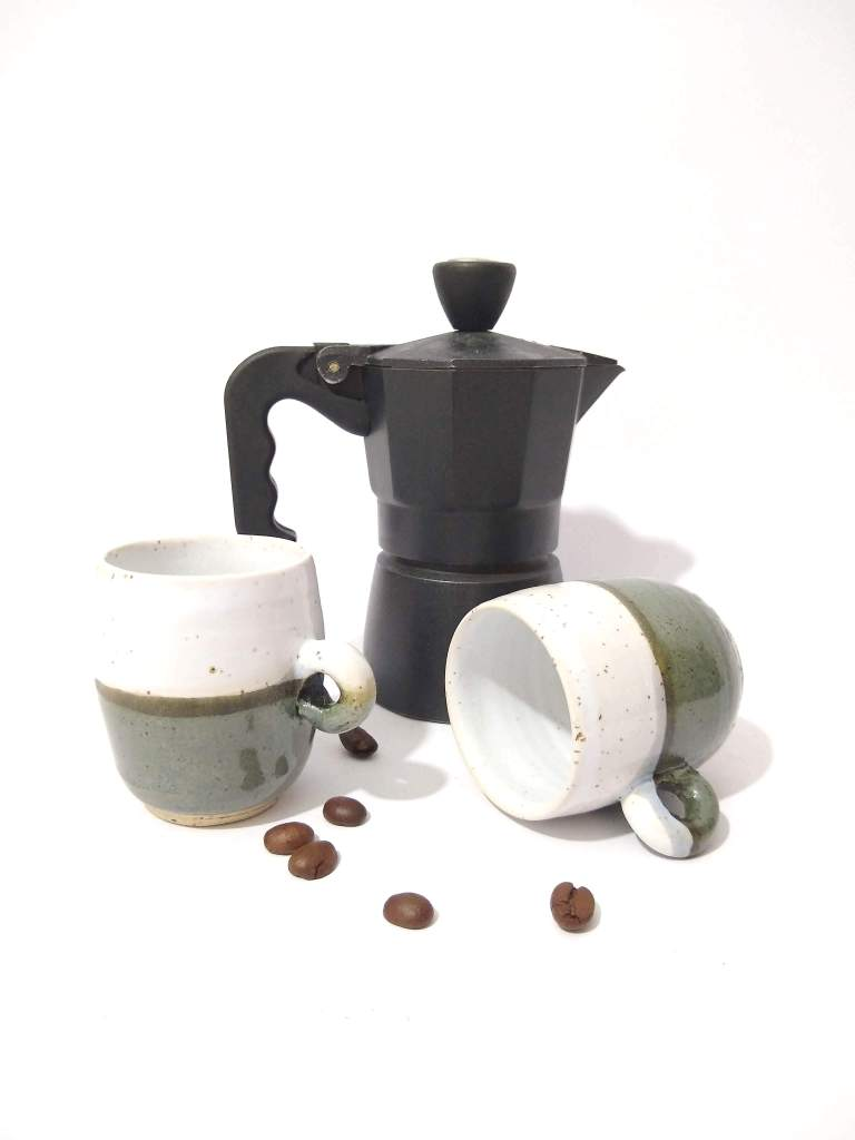 Pottery cups, espresso cups, coffee lovers