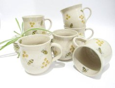 Bees, Coffee Cups, Tea Mugs, Bee Mugs